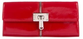 Michael Kors Patent Zipper Clutch - RED - STYLE
