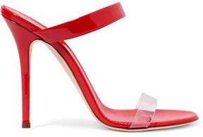 Giuseppe Zanotti Ali Patent-leather And Perspex Sandals - Red