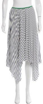 Celine Silk Striped Skirt