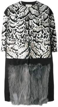Antonio Marras animal print fur coat