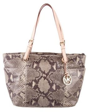 MICHAEL Michael Kors Embossed Jet Set Tote - GREY - STYLE