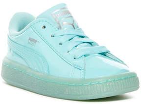 Puma Basket Patent Iced Glitter Sneaker (Toddler)