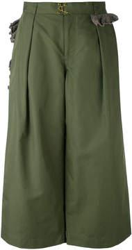 Kolor cropped wide leg trousers