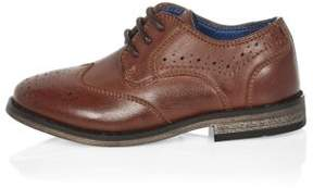 River Island Mini boys brown brogue shoes