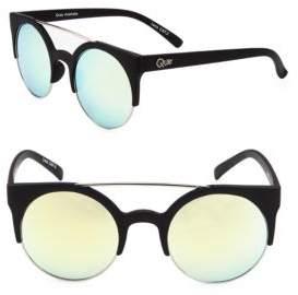 Quay Saddle 49MM Clubmaster Sunglasses