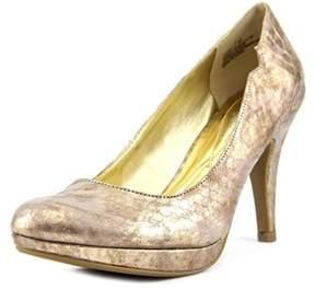 Andrew Geller Garey Women Round Toe Canvas Heels.
