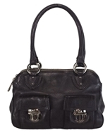 Marc Jacobs Dark Brown Pebbled Leather Shoulder Bag - BROWN - STYLE