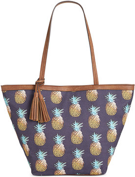 Style & Co. Printed Canvas Tote, Created for Macy's