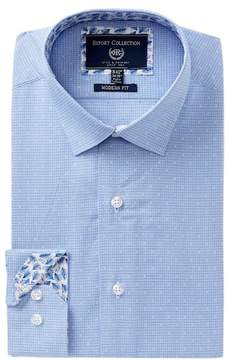 Report Collection Geo Print Trim Fit Dress Shirt