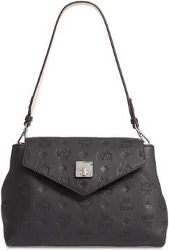 MCM Essentials Monogram Leather Small Crossbody Bag