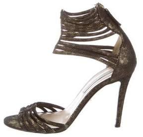 Diane von Furstenberg Metallic Nubuck Sandals