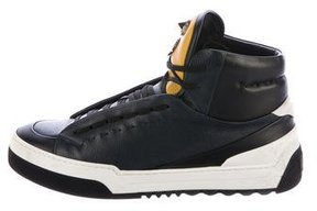 Fendi 2016 Faces Leather Sneakers