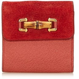 Gucci Pre-owned: Bamboo Suede Wallet. - RED - STYLE