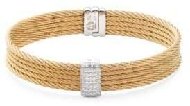 Alor 18K Gold & Stainless Steel Bangle Bracelet