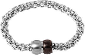 JCPenney FINE JEWELRY Mens Stainless Steel Braided Chain Bracelet