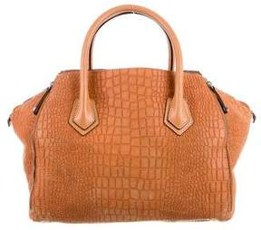 Rebecca Minkoff Embossed Perry Satchel - NEUTRALS - STYLE