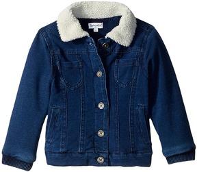 Splendid Littles Baby French Terry Indigo Jacket with Sherpa Collar Girl's Coat