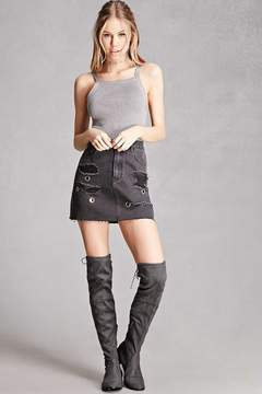 Forever 21 Yoki Suede Over-the-Knee Boots