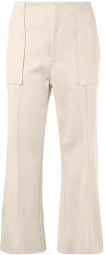 Bassike cropped flare trousers