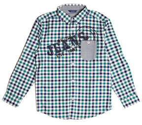 GUESS Long-Sleeve Gingham Logo Shirt (7-18)