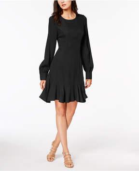 Bar III Ruffle-Hem Fit & Flare Dress, Created for Macy's