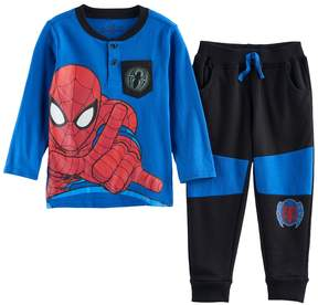 Marvel Toddler Boy Spider-Man Henley & Jogger Pants Set