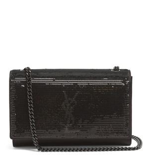 Saint Laurent Kate small leather shoulder bag - BLACK SILVER - STYLE