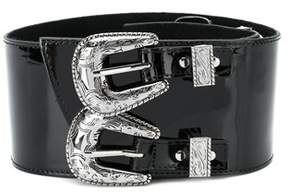 B-Low the Belt Women's Bt1825blacksilver Silver/black Leather Belt.
