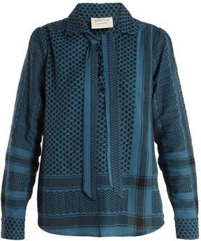DAY Birger et Mikkelsen CECILIE COPENHAGEN Mellow point-collar scarf-jacquard top