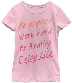 Fifth Sun Pink 'Be Inspired Enjoy Life' Tee - Girls