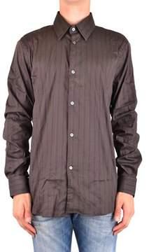 CNC Costume National Men's Mcbi074102o Brown Cotton Shirt.