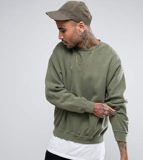 Reclaimed Vintage Inspired Oversized Sweatshirt In Green Overdye