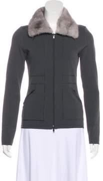 Alessandro Dell'Acqua Fur-Trimmed Zip-Up Sweater