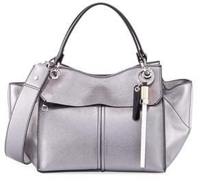 Proenza Schouler Curl Metallic Grain Leather Top-Handle Bag