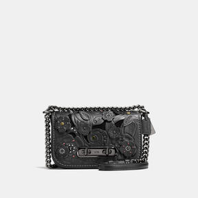 COACH Coach Swagger Shoulder Bag 20 With Tea Rose Tooling - DARK GUNMETAL/BLACK - STYLE