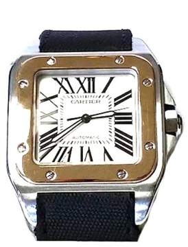 Cartier Santos 100 Yellow Gold and Stainless Steel Men