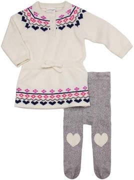 Cuddl Duds Fair Isle Dress & Tight Set (Baby Girls)