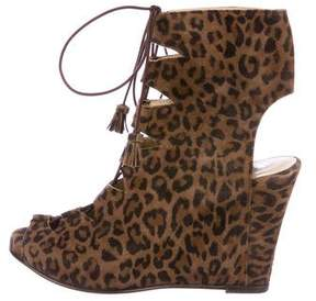 Opening Ceremony Lace-Up Wedge Ankle Boots