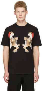Neil Barrett Black Two Owl T-Shirt