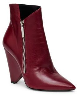 Saint Laurent Niki Leather Point Toe Booties