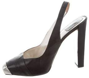 Christian Dior Cap-Toe Platform Pumps