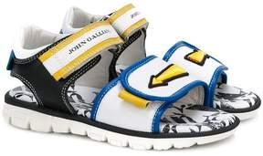 John Galliano logo arrow strap sandals