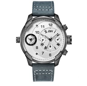 JBW G4 Silver Dial Three Time Zone Diamond Men's Watch