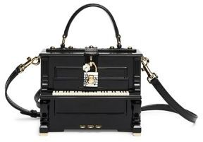 Dolce & Gabbana Miss Dolce Piano Wood & Snakeskin Top-Handle Bag