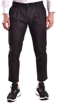 Les Hommes Men's Black Cotton Pants.