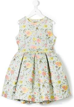 Oscar de la Renta Kids Peony jacquard party dress