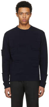 J.W.Anderson Navy Multi Pocket Crewneck Sweatshirt