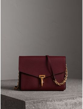 Burberry Small Leather Crossbody Bag - MAHOGANY RED - STYLE