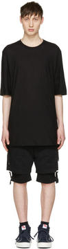 Helmut Lang Black Drawcord T-Shirt