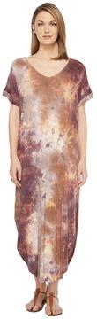 Culture Phit Tay Short Sleeve Tie-Dye Maxi Dress Women's Dress